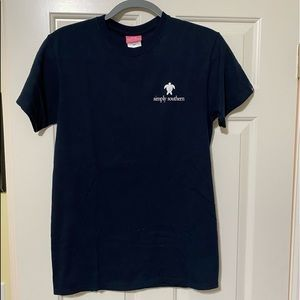 Simply Southern designer navy shirt S